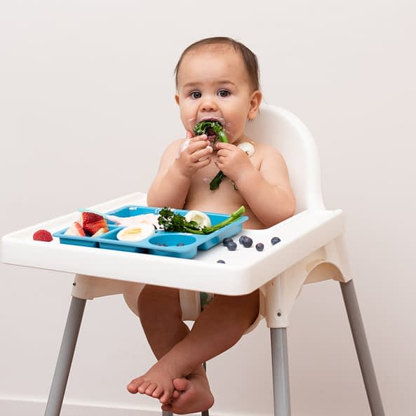 TODDLER EATING OFF A PLATE